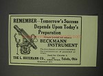 1913 L.Beckmann Surveying Instruments Ad - Success