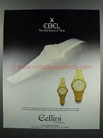 1983 Ebel Watches Ad - The Architects of Time