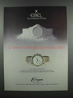 1983 Ebel Ultimate Chronograph Watch Ad