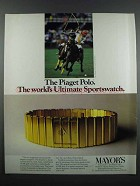 1983 Piaget Polo Watch Ad - Ultimate Sportswatch