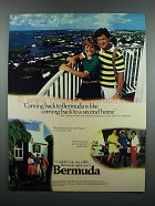 1983 Bermuda Tourism Ad - Back to a Second Home