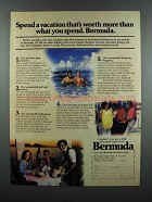 1983 Bermuda Tourism Ad - Worth More Than You Spend