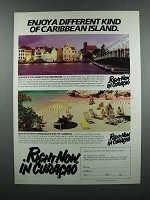 1983 Curacao Tourism Ad - Different Kind of Island