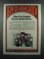 1983 Red Brand Fence Ad - Don't Be Fooled