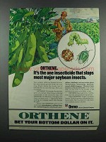 1983 Ortho Orthene Ad - Stops Soybean Insects