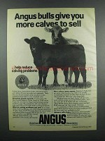 1983 American Angus Association Ad - More Calves