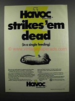 1983 ICI Americas Havoc Rodenticide Ad - Strikes Dead