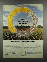 1983 Italian Agricultural Machinery Ad - Solutions