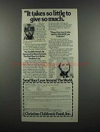 1983 Christian Children's Fund Ad - Sally Struthers