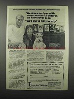1983 Save the Children Ad - Paul Newman, J. Woodward