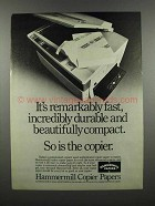 1983 Hammermill Copier Papers Ad - Remarkably Fast