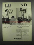 1983 Dictaphone Dictation Machine Ad - B.D. A.D.