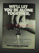 1983 Yamaha Motorcycles Ad - Be Alone Together