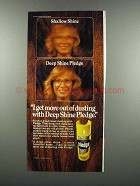 1983 Johnson Wax Pledge Ad - I Get More Out of Dusting
