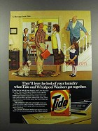1983 Tide Detergent Ad - Love the Look of Laundry