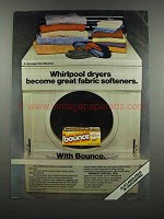 1983 Bounce Dryer Sheets Ad - Whirlpool Dryers
