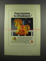 1983 Mattel Rock-A-Bye Pony Crib Toy Ad - Pony Express