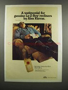 1983 La-Z-Boy Recliners Ad - Alex Karras