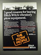1983 Ditch Witch Ad - 3 Good Reasons for Buying