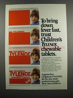 1983 Children's Tylenol Chewable Tablets Ad - Fever