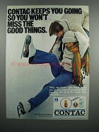 1983 Contac Medicine Ad - Keeps You Going