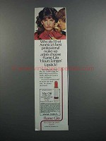 1983 Flame Glo Hours Longer Lipstick Ad