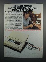 1983 Timex Healthcheck Home Blood Pressure Monitor Ad