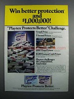 1983 Playtex Tampons Ad - Win Better Protection
