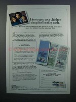 1983 Aim Toothpaste Ad - Gift of Healthy Teeth