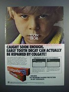 1983 Colgate Toothpaste Ad - Tooth Decay