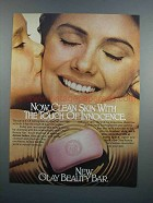 1983 Olay Beauty Bar Ad - The Touch of Innocence
