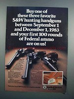 1983 Smith & Wesson Model 25, 27 & 57 Revolvers Ad