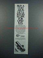 1983 Colt AR-15 Rifle and Scope Ad