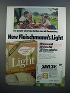 1983 Fleischmann's Light Corn Oil Spread Ad