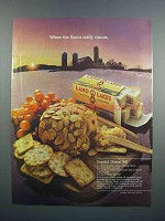 1983 Land O Lakes Butter Ad - Jeweled Cheese Ball