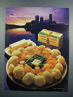 1983 Land O Lakes Butter Ad - Flavor Really Counts