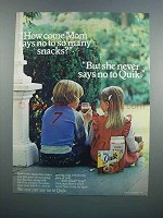 1983 Nestle Quik Ad - Mom Says No To So Many Snacks
