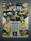 1983 Wish-Bone Herb Classics Dressings Ad
