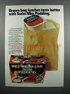1983 Swiss Miss Chocolate Pudding Ad - Brown Bag