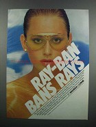1983 Ray-Ban Sunglasses Ad - Bans Rays