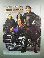 1983 Hein Gericke Riding Leathers Ad - Serious Riders
