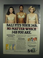 1983 Bali Bras Ad - No Matter Which 34B You Are