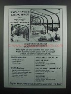 1983 Four Seasons Greenhouses Ad - Expand Living