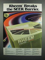 1983 Rheem Imperial High Efficiency Heat Pump Ad