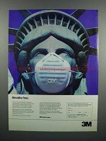 1983 3M Lightweight Disposable Masks Ad - Breathe Free
