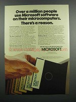 1983 Microsoft BASIC Software Ad - A Million People