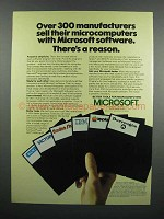1983 Microsoft Software Ad - 300 Manufacturers