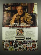 1983 RCA VideoDisc Player Ad - Gene Kelly Super Bowl