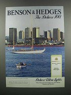 1983 Benson & Hedges 100's Deluxe Lights Cigarettes Ad