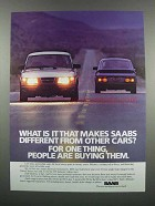 1983 Saab Cars Ad - What Makes Different